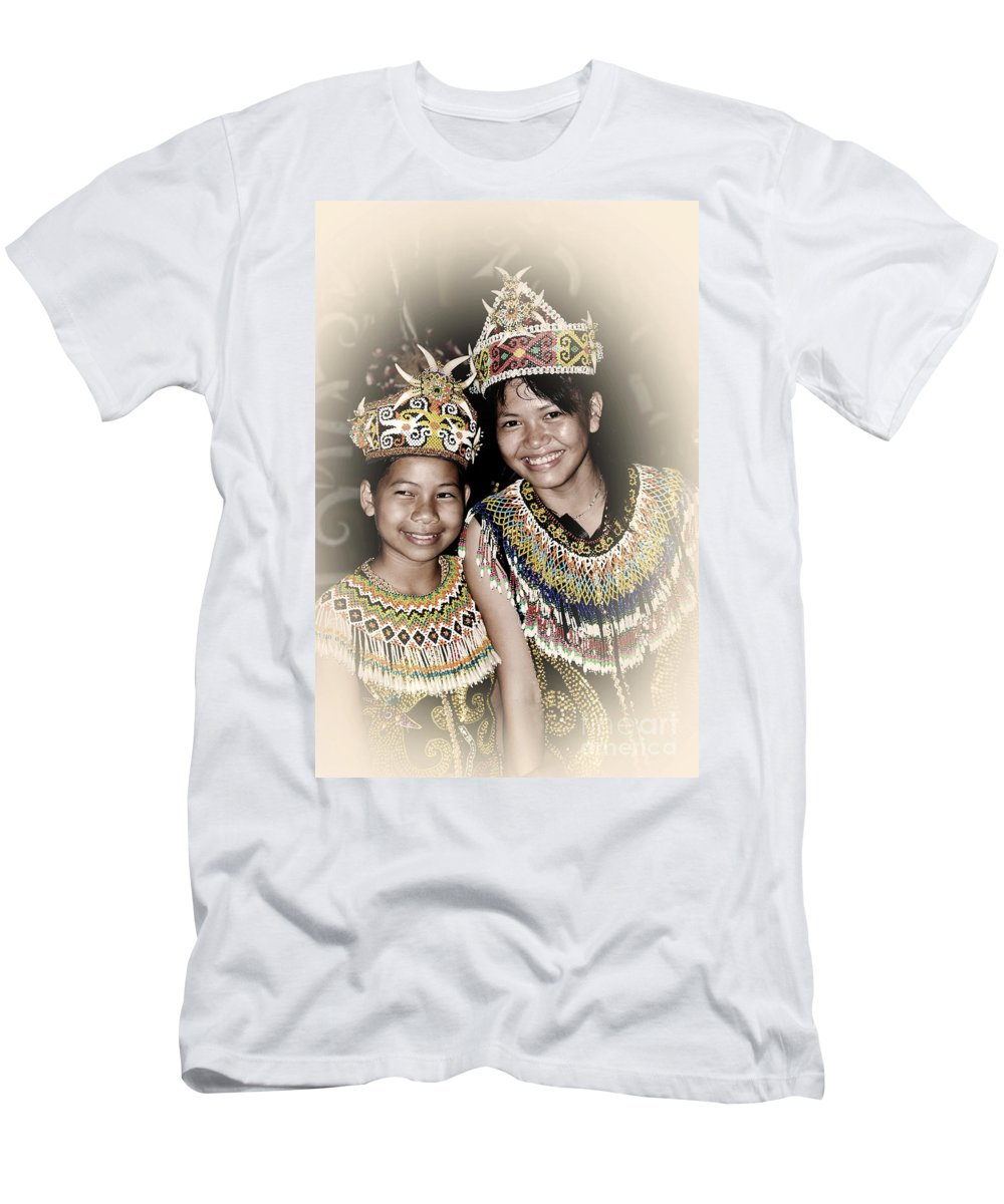 Men's T-Shirt (Athletic Fit) featuring the photograph Tribal Girls by Charuhas Images