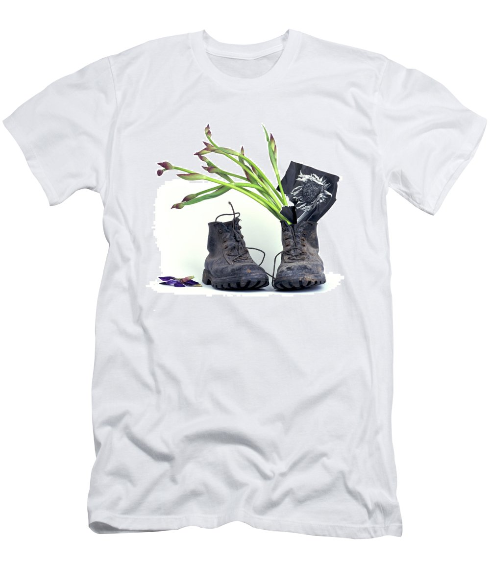 Van Men's T-Shirt (Athletic Fit) featuring the photograph tribute to Van Gogh by Bernard Jaubert