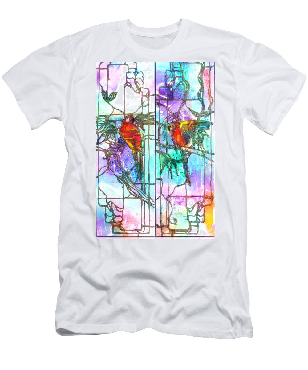 Tropical Men's T-Shirt (Athletic Fit) featuring the painting Tropical Reflections by Barbara Colangelo