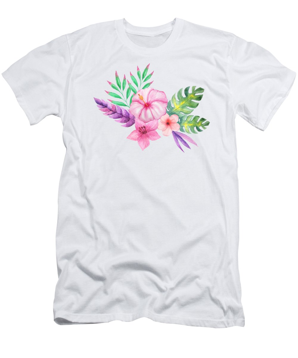 Hibiscus Flower Paintings T-Shirts
