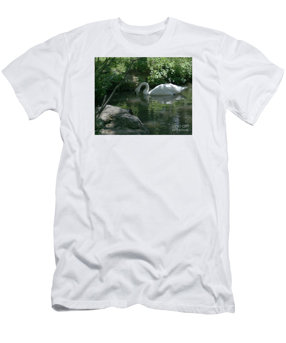 Trumpeter Swan T-Shirt featuring the photograph Trumpeter Swan by Dawn Downour