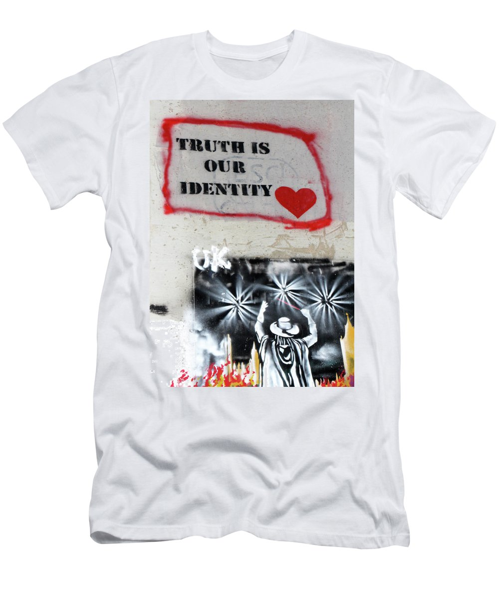Truth Men's T-Shirt (Athletic Fit) featuring the photograph Truth Is Our Identity by Munir Alawi