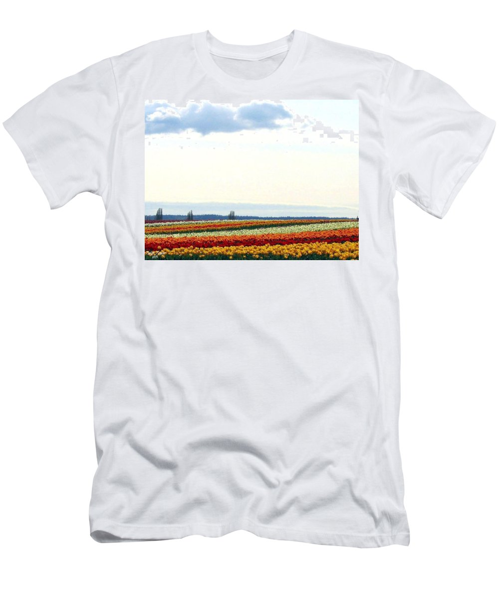 Agriculture Men's T-Shirt (Athletic Fit) featuring the photograph Tulip Town 13 by Will Borden