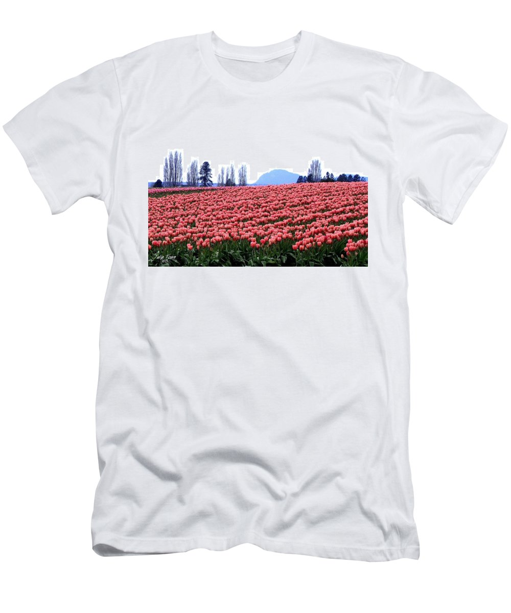 Agriculture Men's T-Shirt (Athletic Fit) featuring the photograph Tulip Town 3 by Will Borden