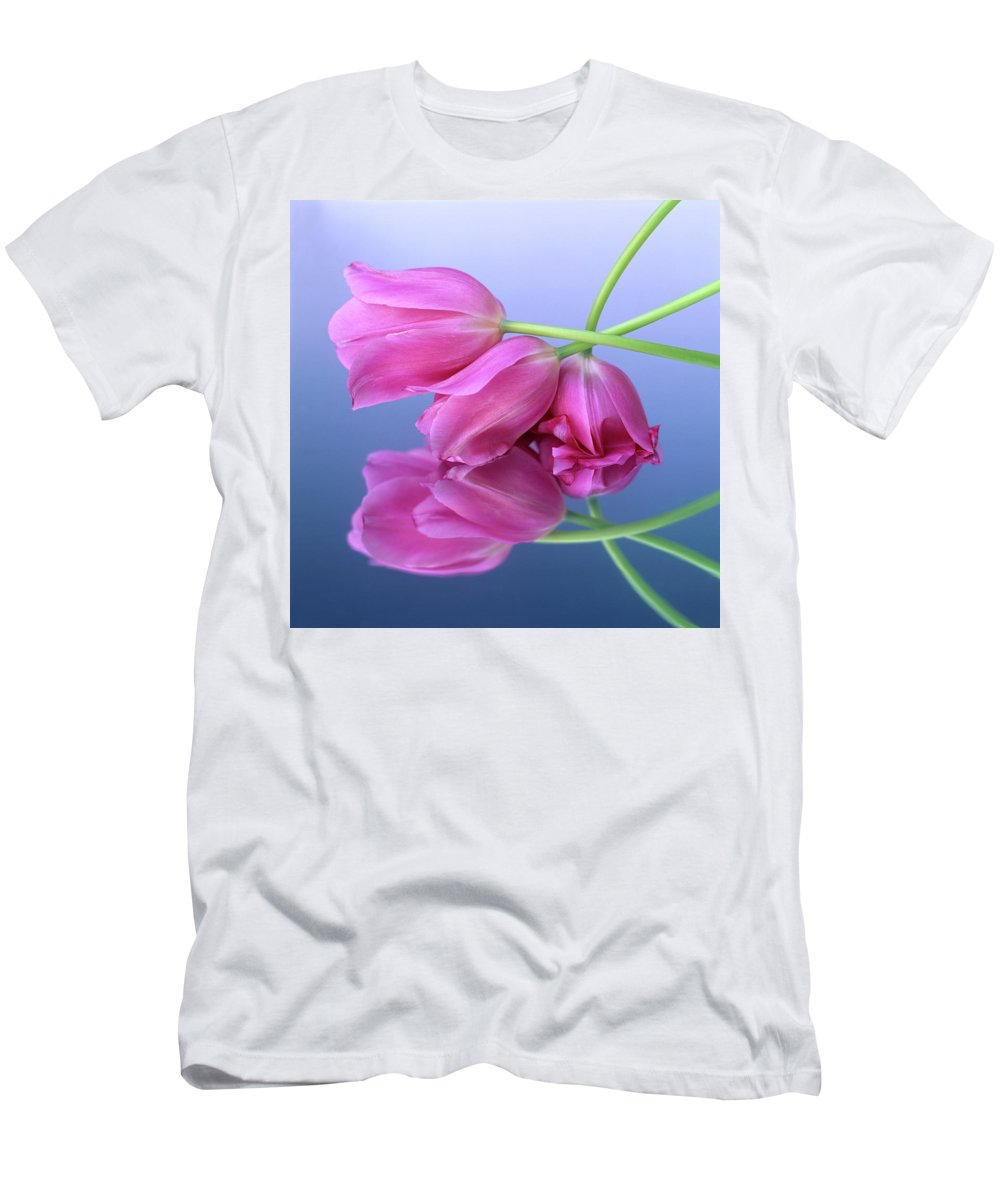 Variety Men's T-Shirt (Athletic Fit) featuring the photograph Tulips .tulipa. by Bernard Jaubert