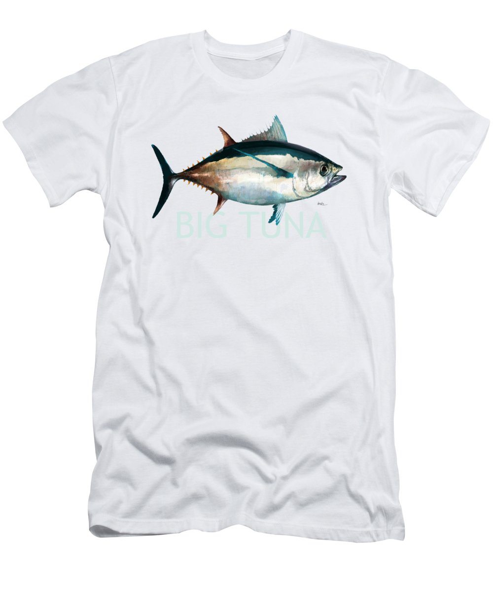 Fish Men's T-Shirt (Athletic Fit) featuring the digital art Tuna 001 by Trevor Irvin