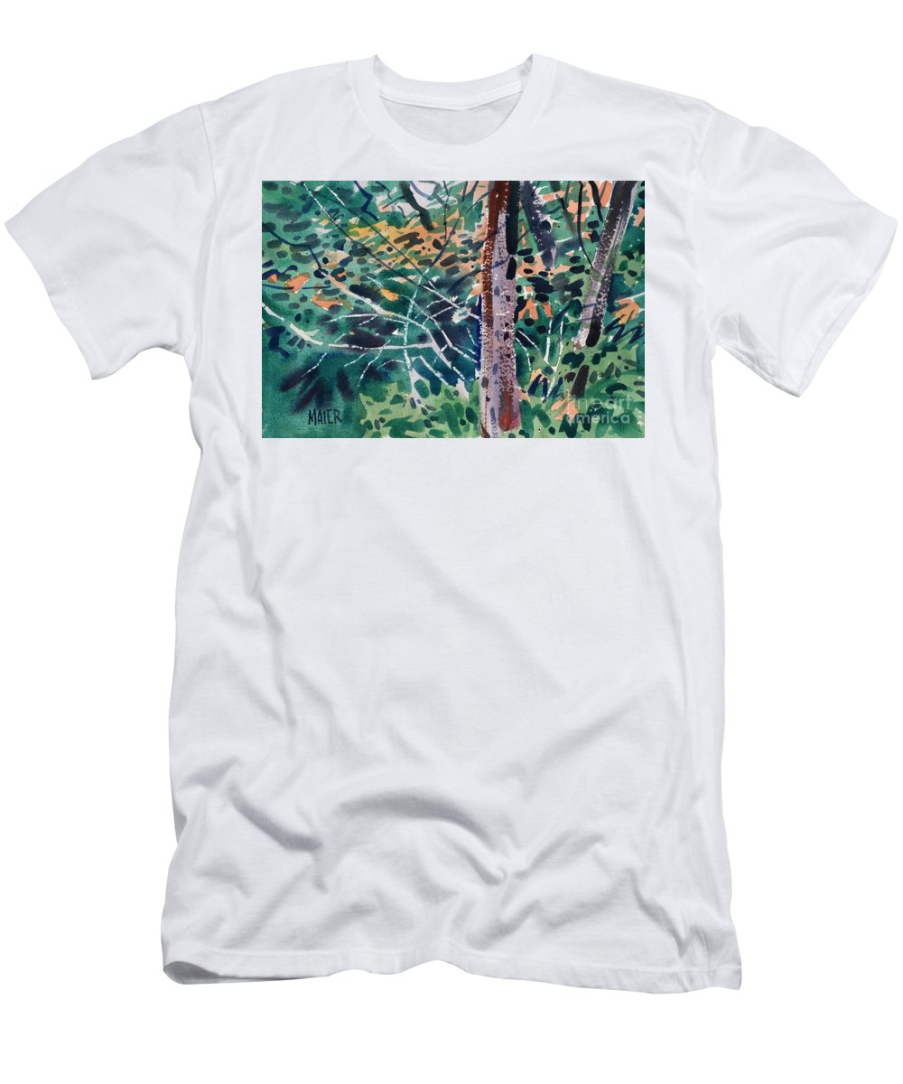 Autumn Foliage T-Shirt featuring the painting Turning Leaves by Donald Maier