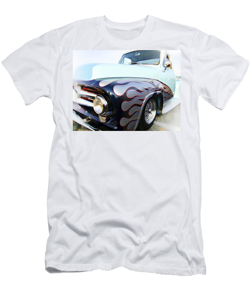 Hot Rod Men's T-Shirt (Athletic Fit) featuring the photograph Turquoise Statement by Douglas Barnard