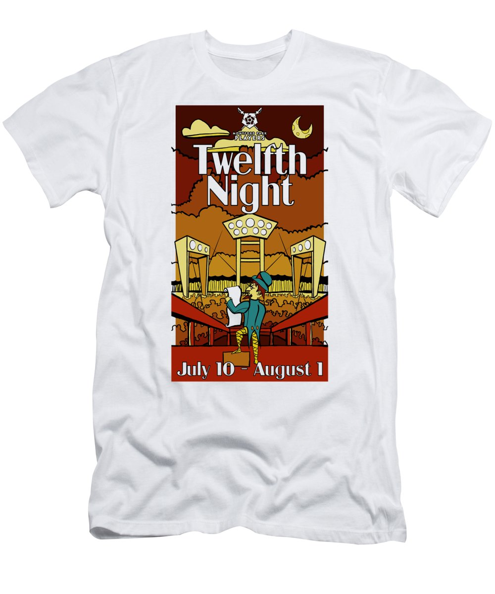 Twelfth Night Men's T-Shirt (Athletic Fit) featuring the digital art Twelfth Night Poster by Robert Edwards