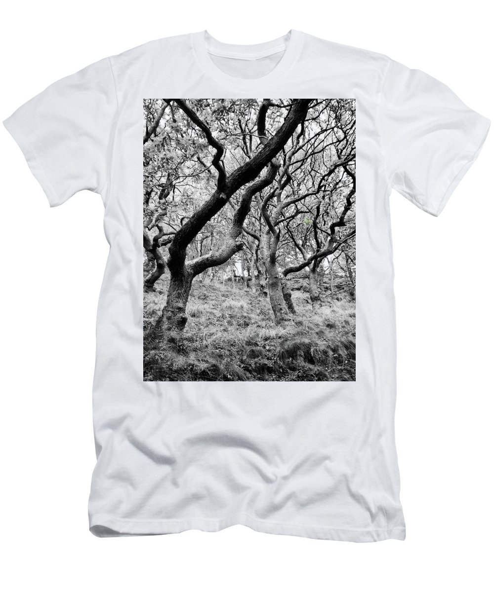Twisted Men's T-Shirt (Athletic Fit) featuring the photograph Twisted Woodland by Philip Openshaw