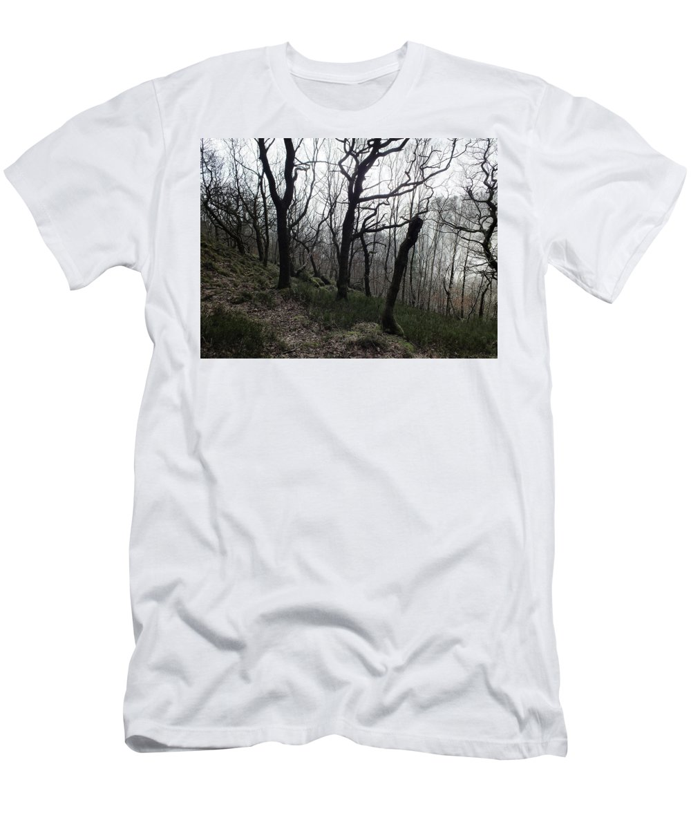 Winter Trees Men's T-Shirt (Athletic Fit) featuring the photograph Twisted Woods by Philip Openshaw