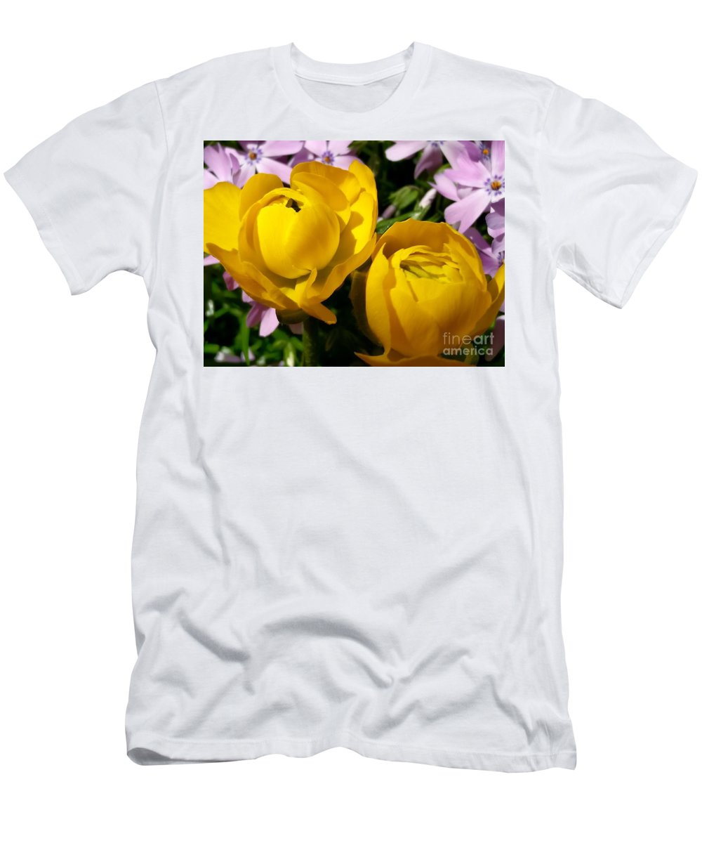 Fllowers Men's T-Shirt (Athletic Fit) featuring the photograph Two by Mioara Andritoiu