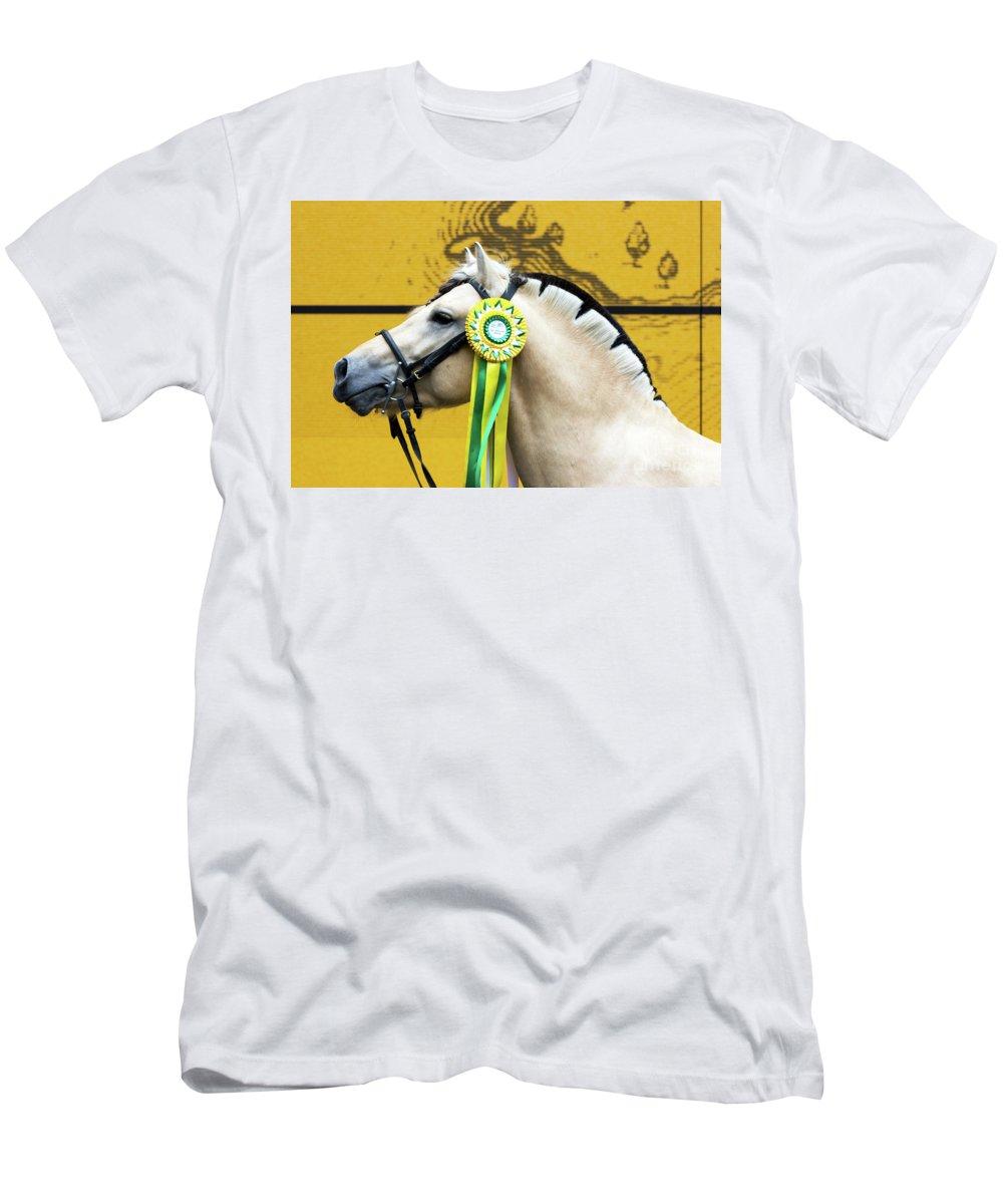 Svetlanistaya Men's T-Shirt (Athletic Fit) featuring the photograph Norwegian Fjord 3 by Svetlana Svetlanistaya