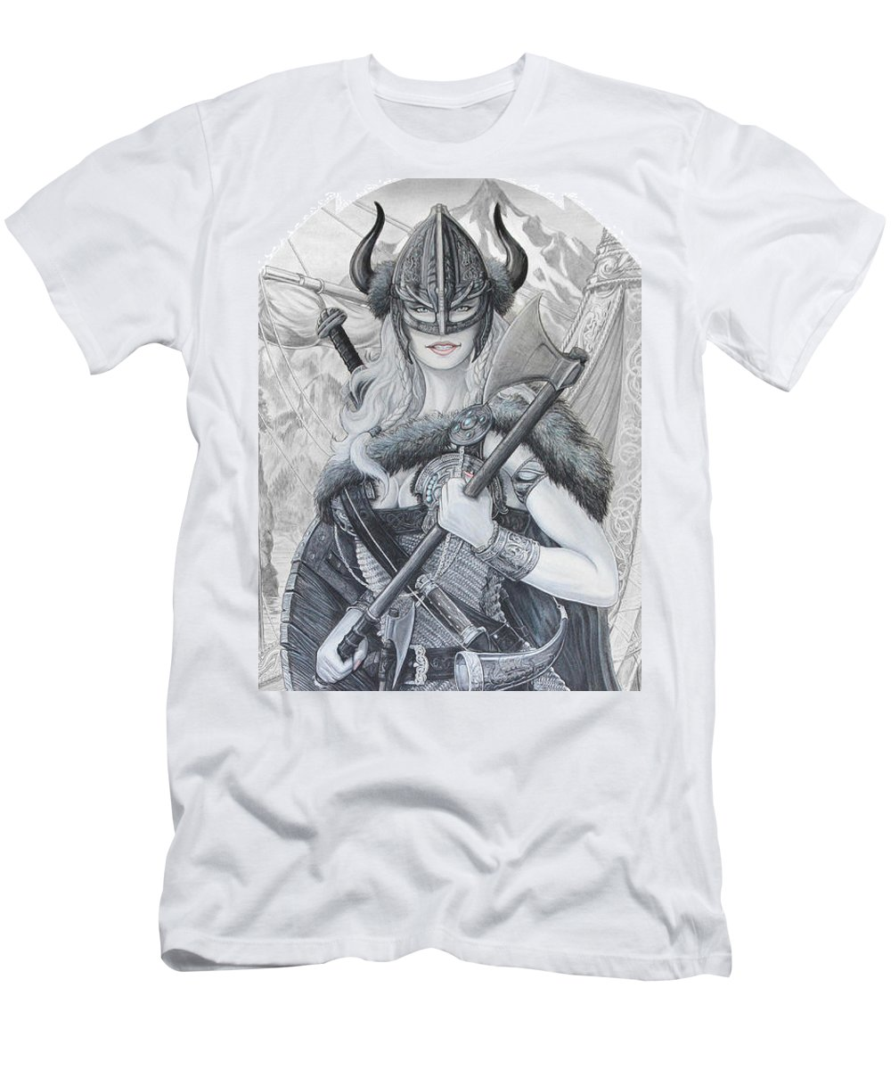 Viking Men's T-Shirt (Athletic Fit) featuring the drawing Tyryja by Kristopher VonKaufman