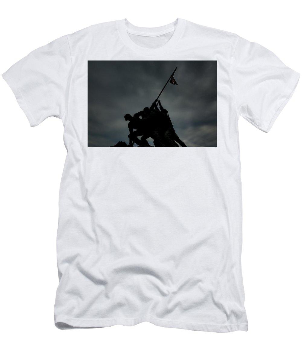Usmc Men's T-Shirt (Athletic Fit) featuring the photograph U S M C Memorial by Greg Thiemeyer