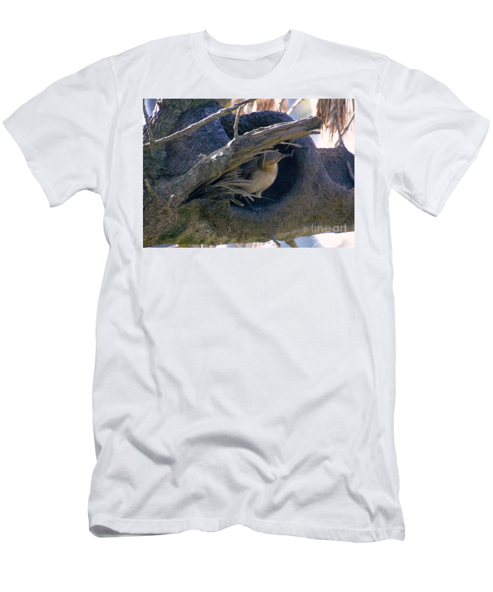 Birds Men's T-Shirt (Athletic Fit) featuring the photograph Under Construction II by Silvana Miroslava Albano