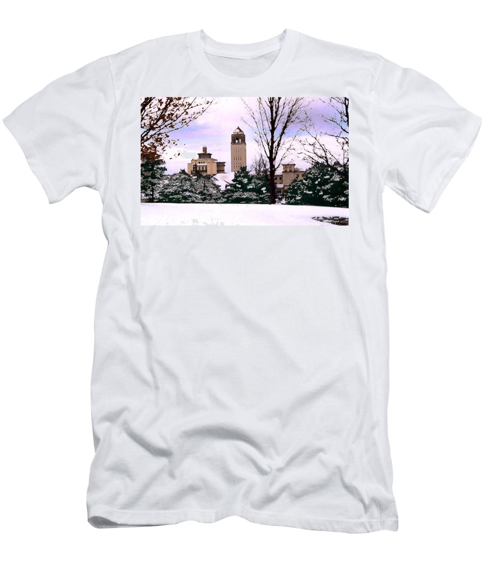 Landscape Men's T-Shirt (Athletic Fit) featuring the photograph Unity Village by Steve Karol