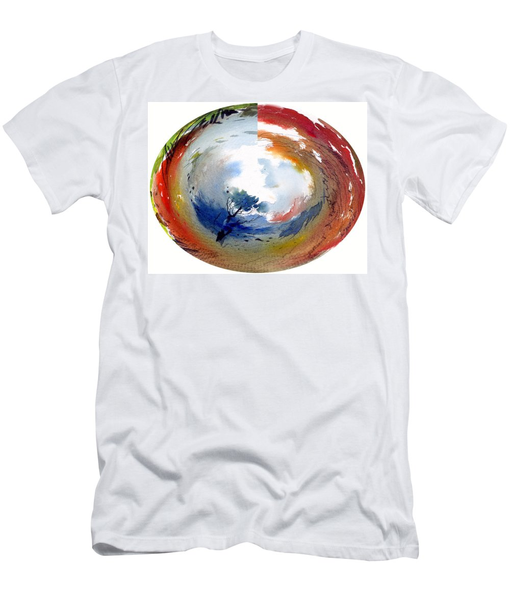 Landscape Water Color Watercolor Digital Mixed Media Men's T-Shirt (Athletic Fit) featuring the painting Universe by Anil Nene
