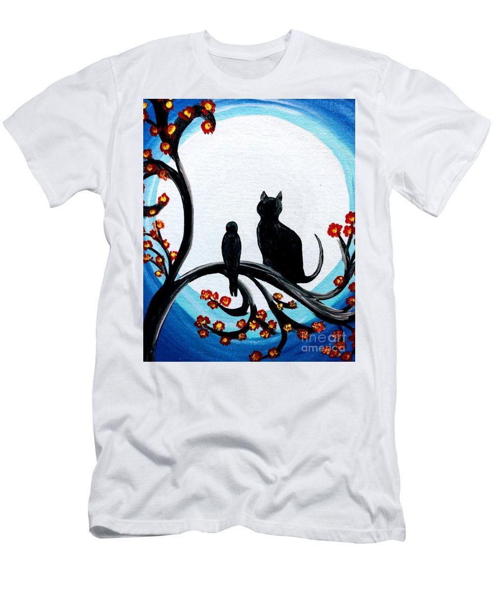 Friend Men's T-Shirt (Athletic Fit) featuring the painting Unlikely Friends by Nancy Turner