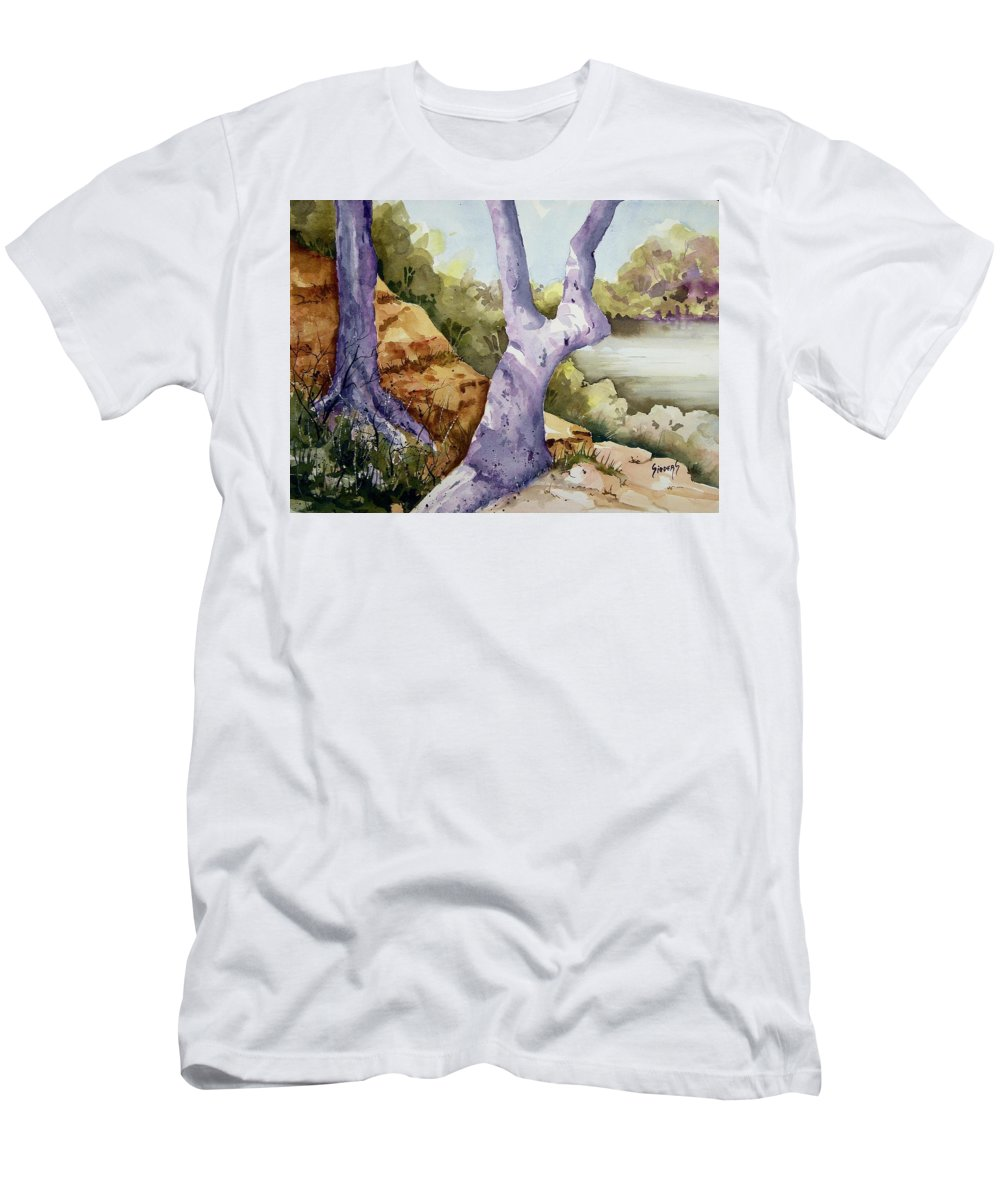 Tree Men's T-Shirt (Athletic Fit) featuring the painting Untitled by Sam Sidders