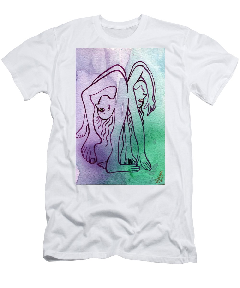 Watercolor Men's T-Shirt (Athletic Fit) featuring the painting Untitled by Sue Wright