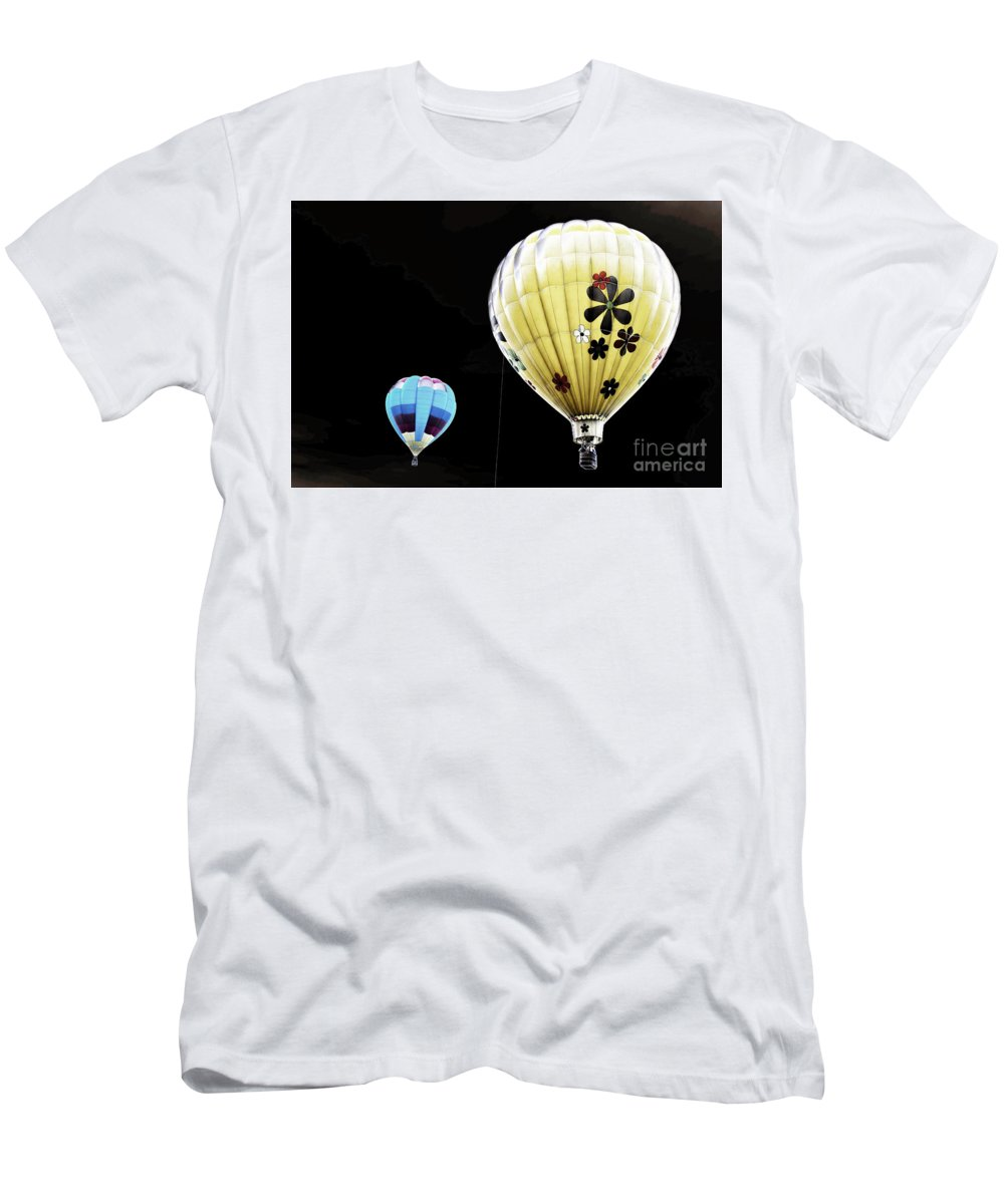 Flower Men's T-Shirt (Athletic Fit) featuring the photograph Up On The Air by Steven Parker
