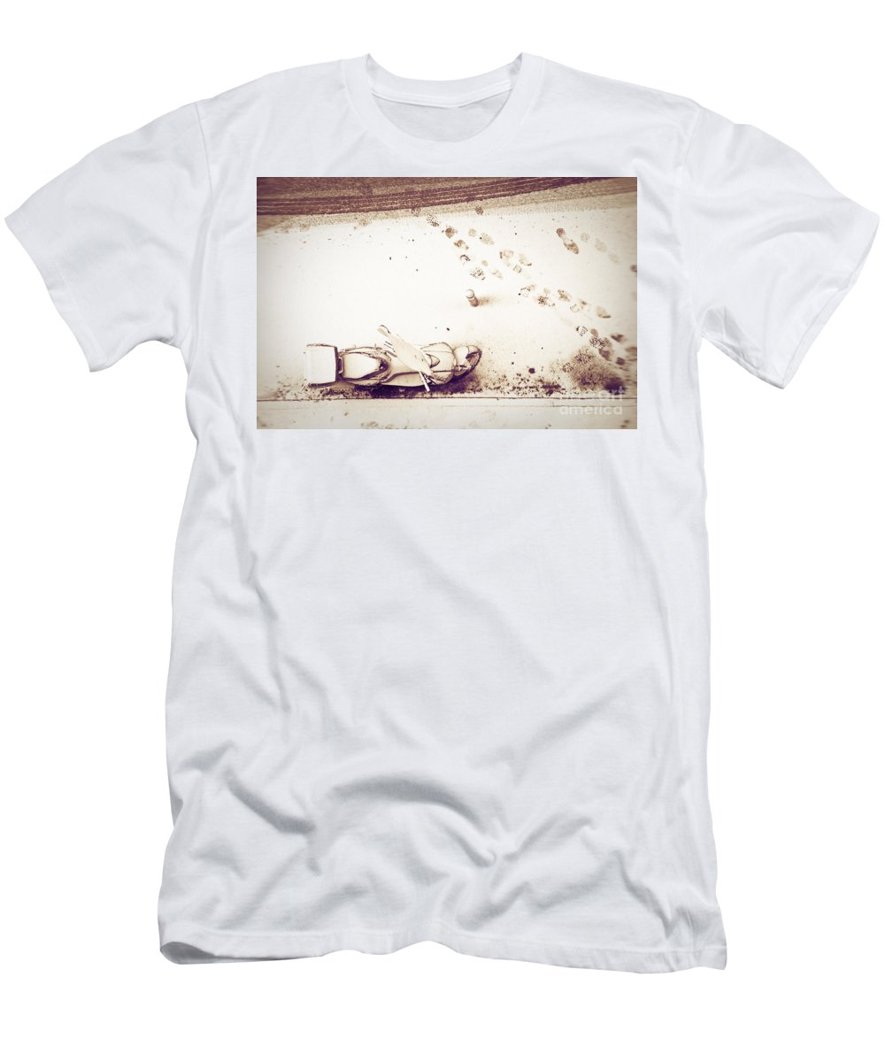 Snow Men's T-Shirt (Athletic Fit) featuring the photograph Urban Snow by Silvia Ganora