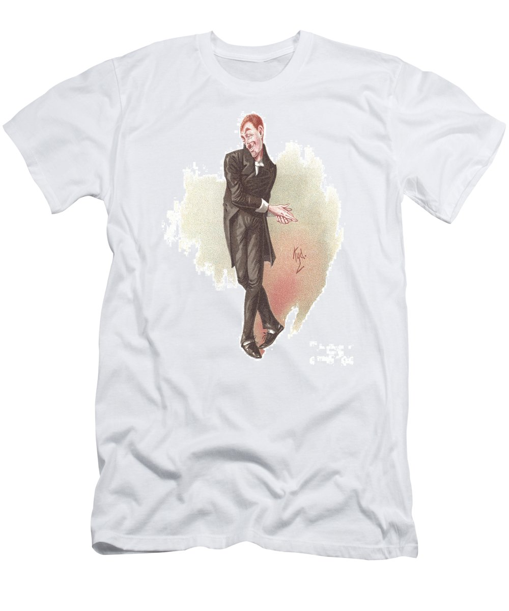 Charles Dickens Men's T-Shirt (Athletic Fit) featuring the drawing Uriah Heep by Joseph Clayton Clarke