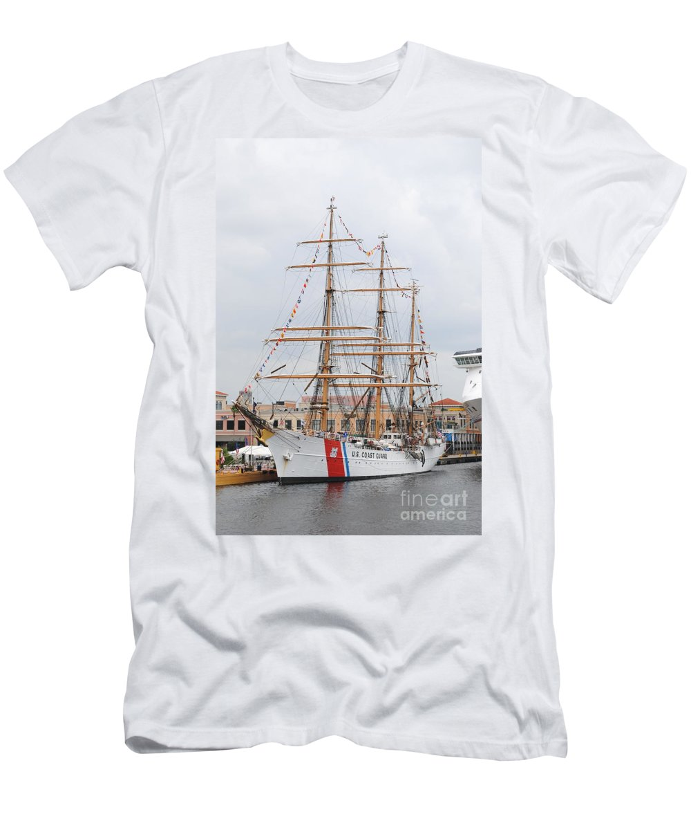 Ship Men's T-Shirt (Athletic Fit) featuring the photograph Us Cutter by Jost Houk