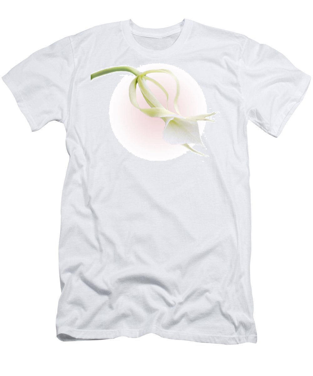 Love Men's T-Shirt (Athletic Fit) featuring the photograph Valentine Orchid by Marilyn Hunt