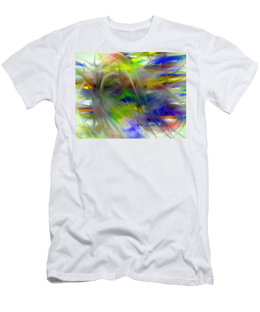 Veils Men's T-Shirt (Athletic Fit) featuring the digital art Veils Of Color 2 by Greg Moores