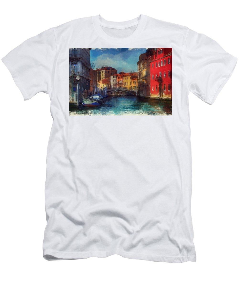 Art Men's T-Shirt (Athletic Fit) featuring the digital art Venice by Brenda Wilcox aka Wildeyed n Wicked