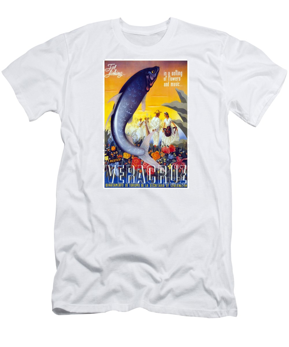 Veracruz Men's T-Shirt (Athletic Fit) featuring the painting Veracruz by Pd