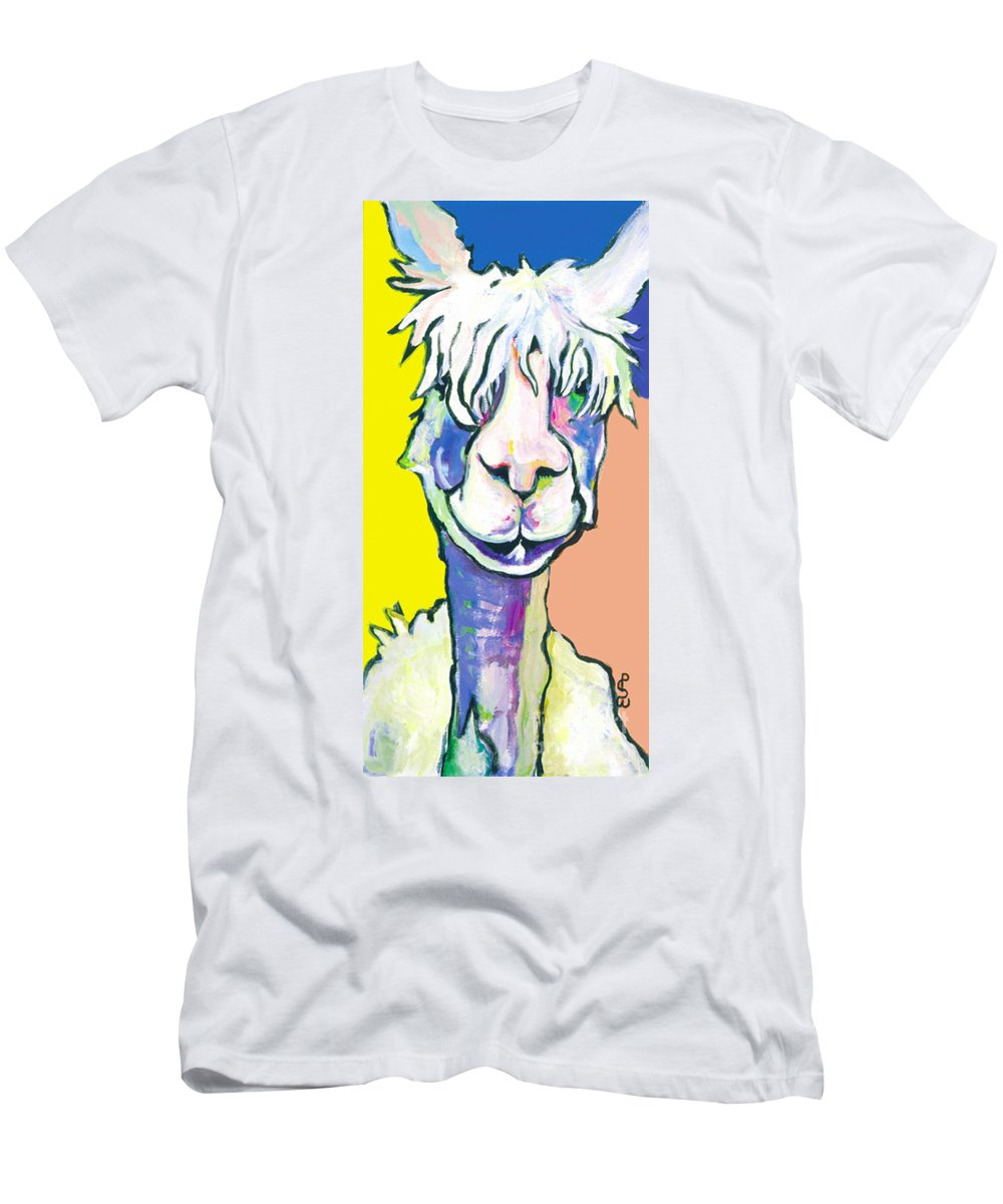 Mountain Animal Men's T-Shirt (Athletic Fit) featuring the painting Veronica by Pat Saunders-White