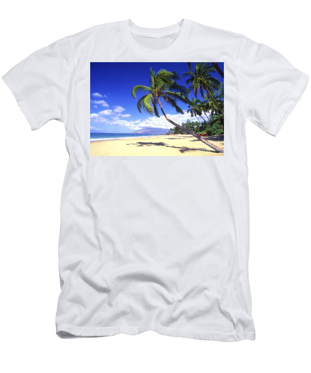 Afternoon Men's T-Shirt (Athletic Fit) featuring the photograph Vibrant Green Palms by Ron Dahlquist - Printscapes