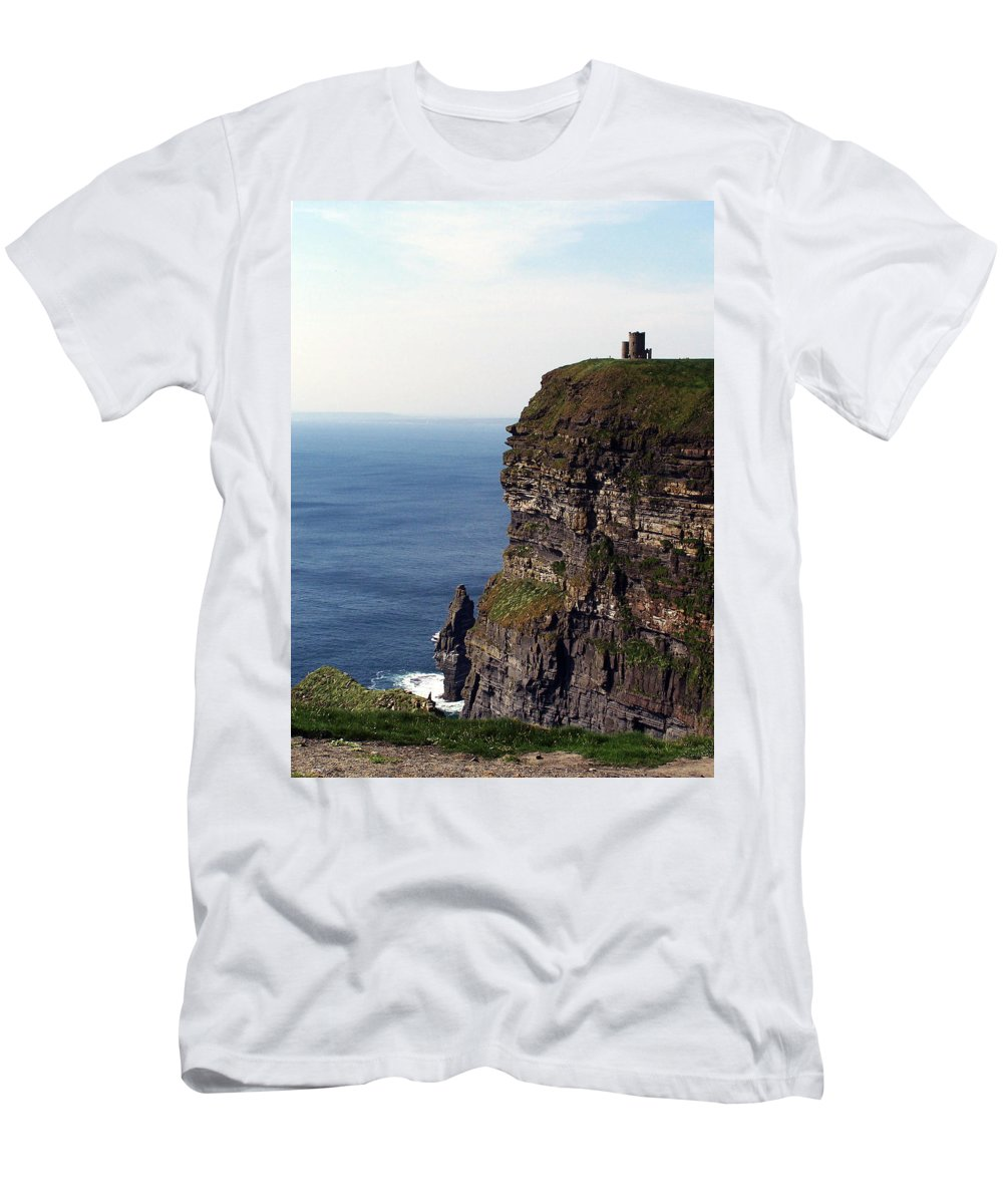 Irish T-Shirt featuring the photograph View of Aran Islands and Cliffs of Moher County Clare Ireland by Teresa Mucha