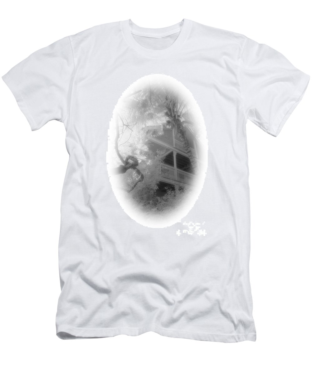 Balcony Men's T-Shirt (Athletic Fit) featuring the photograph View Of The Balcony by Richard Rizzo