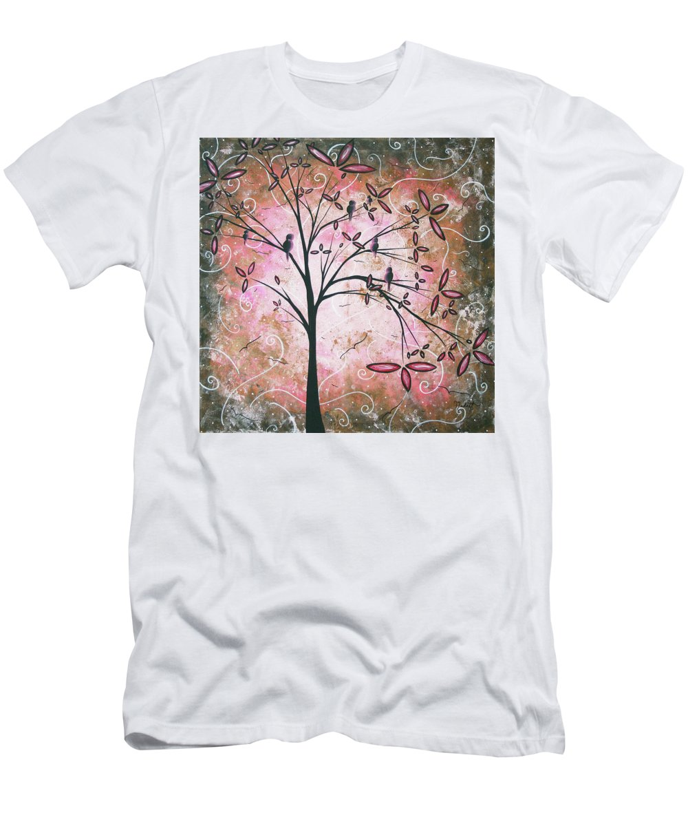 Art Men's T-Shirt (Athletic Fit) featuring the painting Vintage Couture By Madart by Megan Duncanson