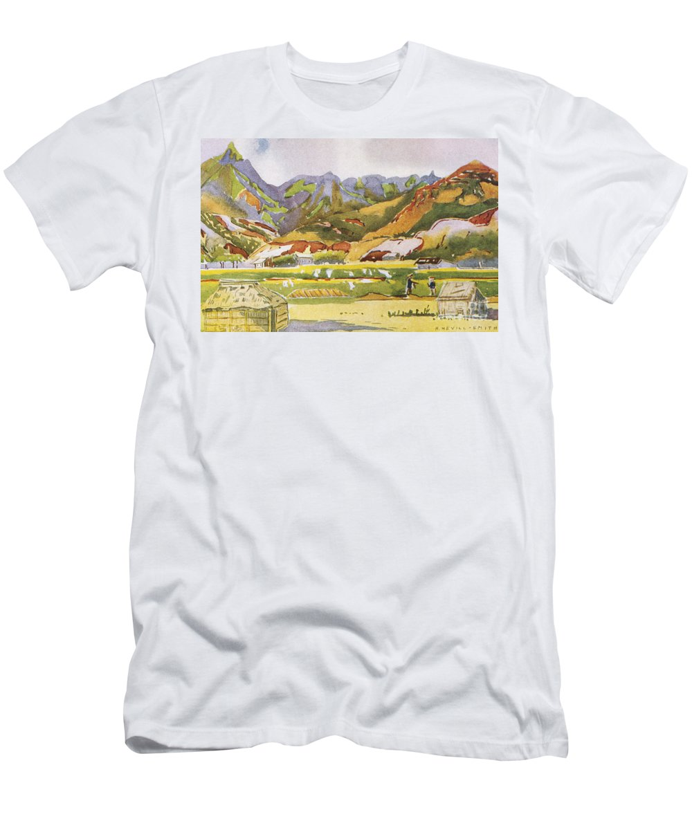 1931 Men's T-Shirt (Athletic Fit) featuring the painting Vintage Hawaiian Art by Hawaiian Legacy Archive - Printscapes