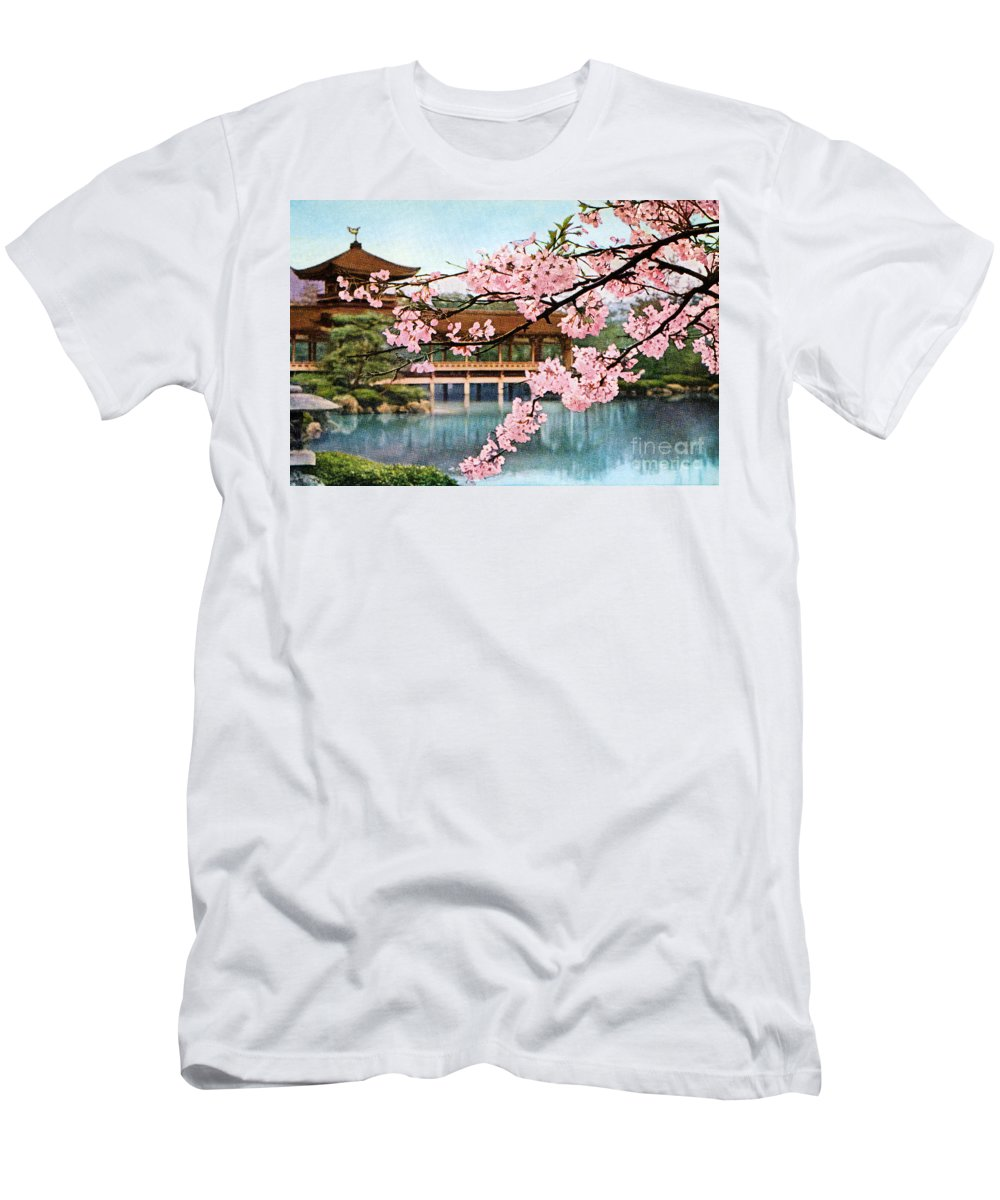 Archival Men's T-Shirt (Athletic Fit) featuring the painting Vintage Japanese Art 12 by Hawaiian Legacy Archive - Printscapes