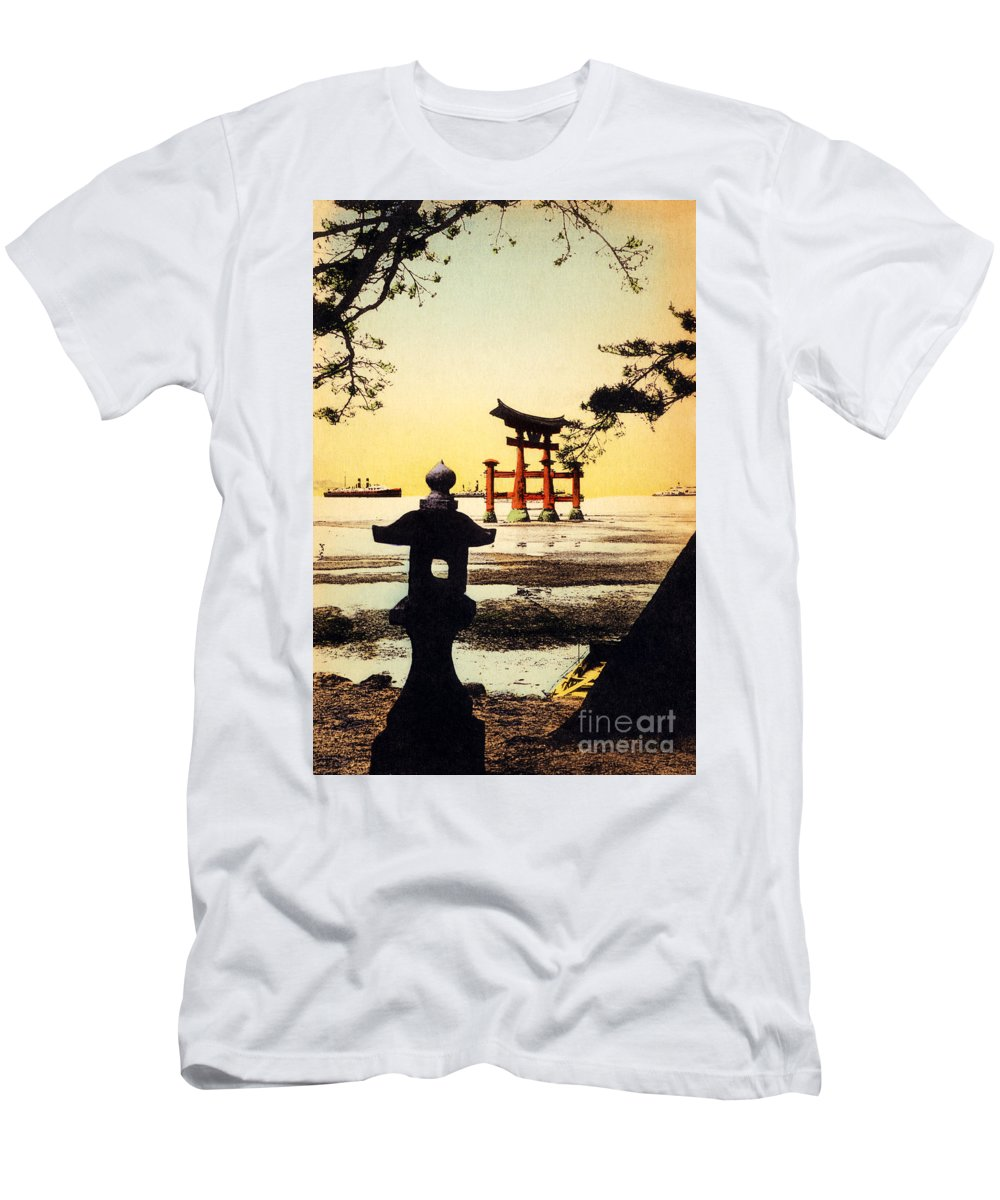 Archival Men's T-Shirt (Athletic Fit) featuring the painting Vintage Japanese Art 23 by Hawaiian Legacy Archive - Printscapes