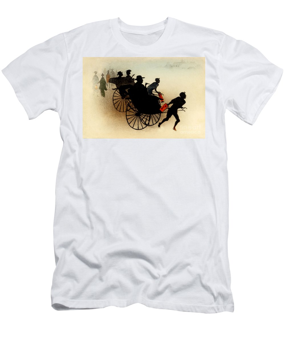 Archival Men's T-Shirt (Athletic Fit) featuring the painting Vintage Japanese Art 29 by Hawaiian Legacy Archive - Printscapes