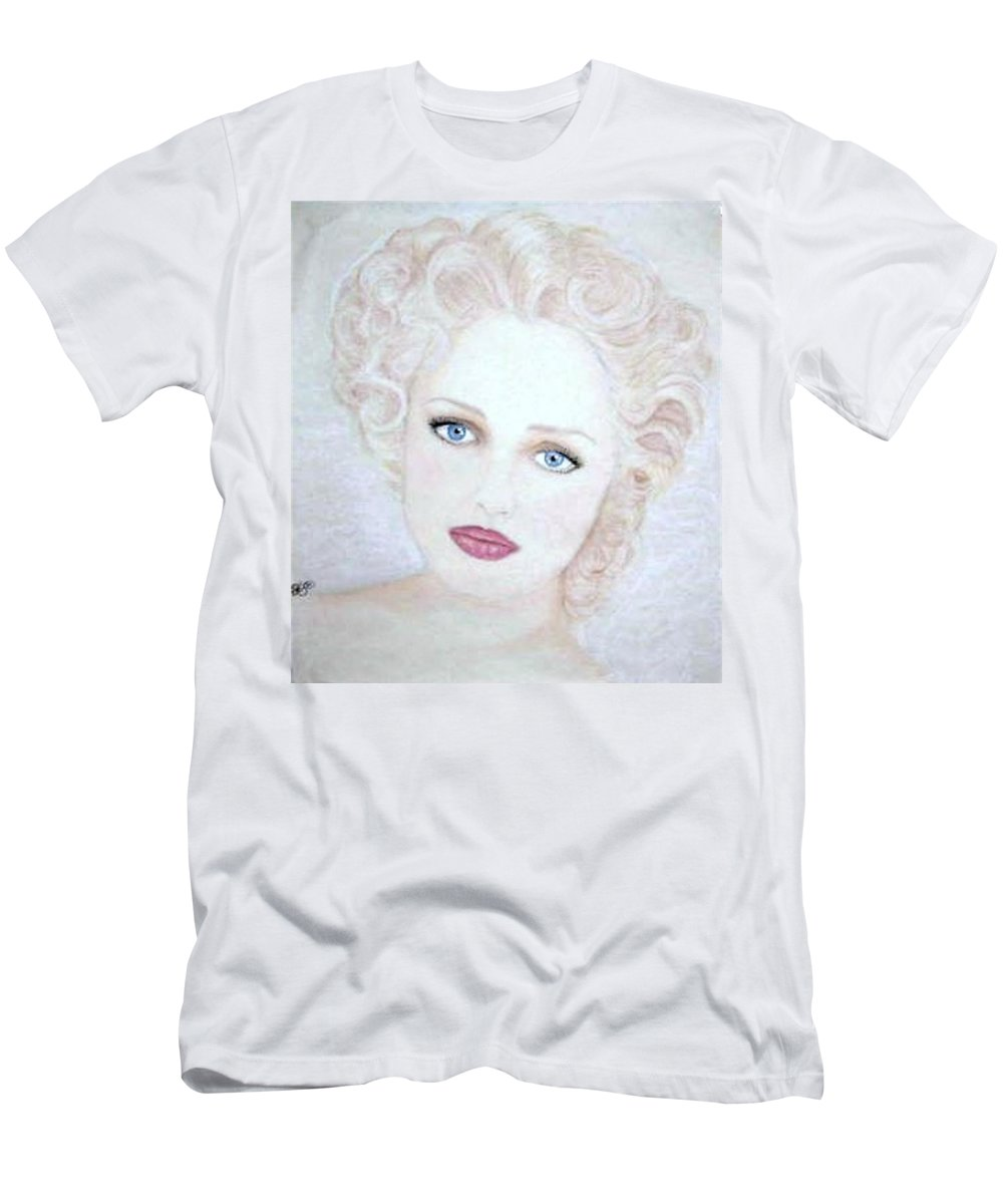Face T-Shirt featuring the drawing Virginia by Scarlett Royal