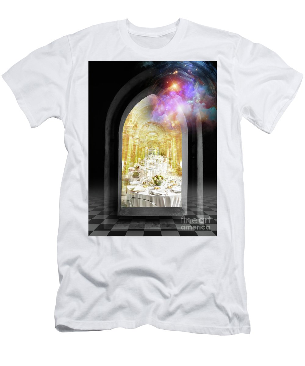 Vision Men's T-Shirt (Athletic Fit) featuring the digital art Vision by Esther Eunjoo Jun