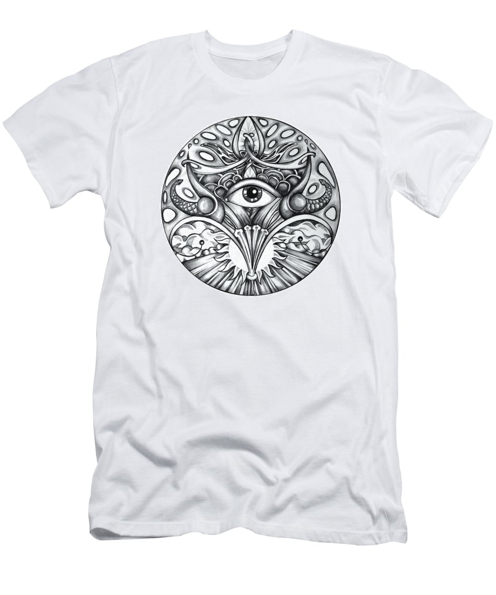 Eye Men's T-Shirt (Athletic Fit) featuring the drawing Vision by Shadia Derbyshire