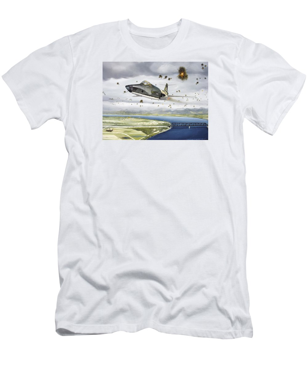 Military T-Shirt featuring the painting Voodoo Vs The Dragon by Marc Stewart