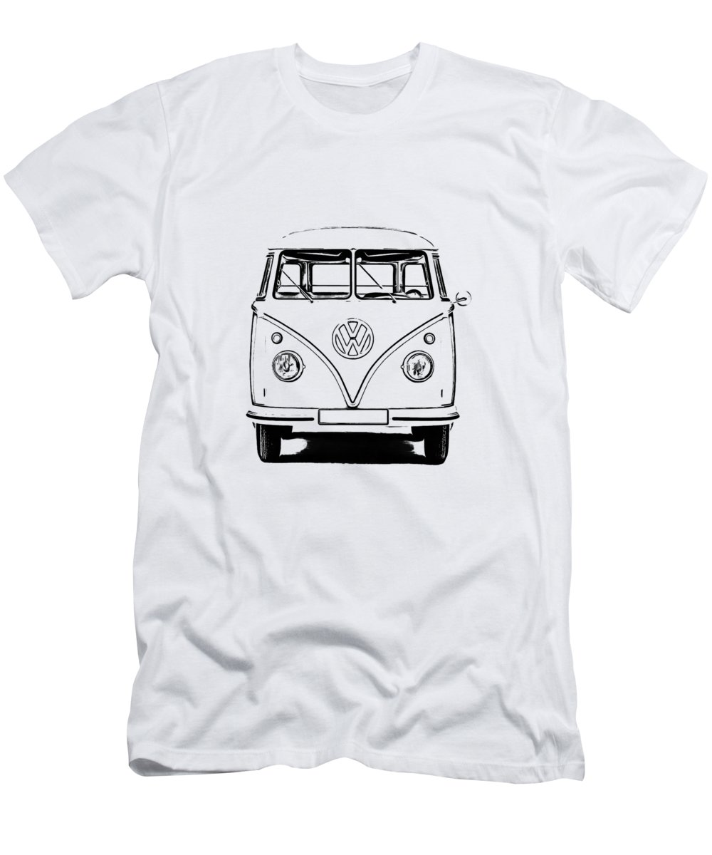 Vw Men's T-Shirt (Athletic Fit) featuring the photograph Bus by Edward Fielding
