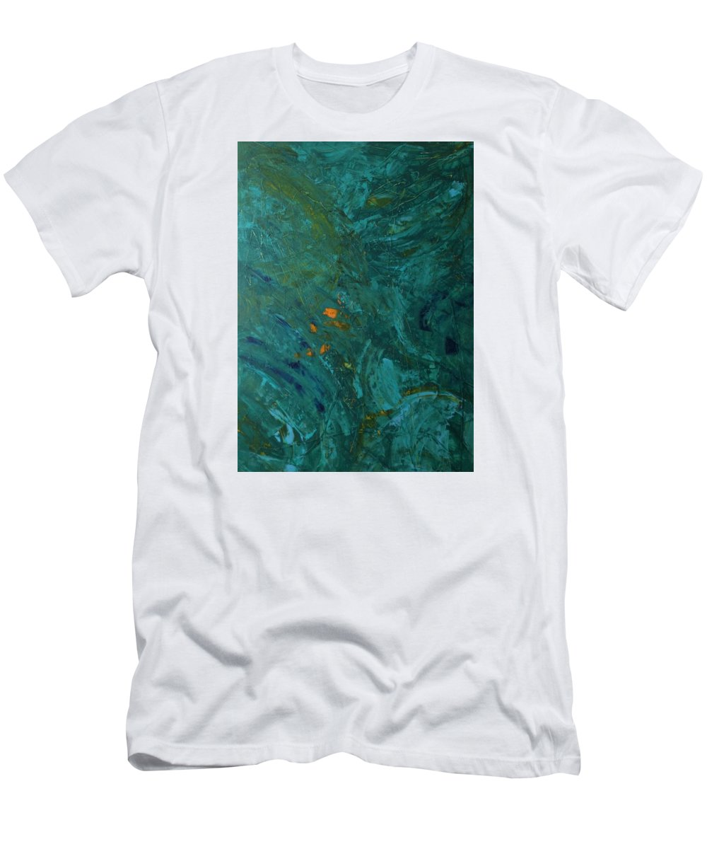 Abstract Art Men's T-Shirt (Athletic Fit) featuring the painting W Pulsar by John Dossman