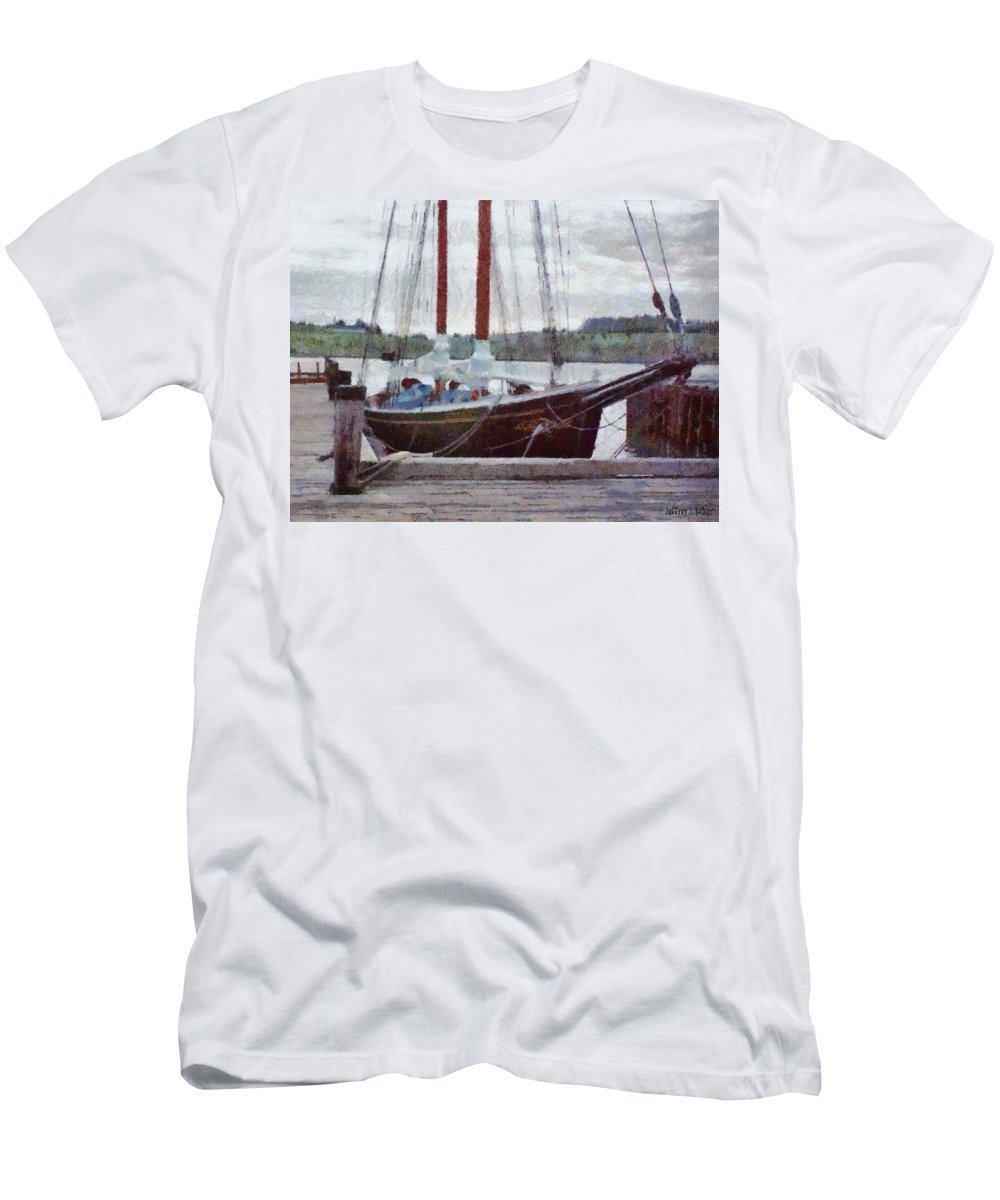 Canadian Men's T-Shirt (Athletic Fit) featuring the painting Waiting To Sail by Jeffrey Kolker