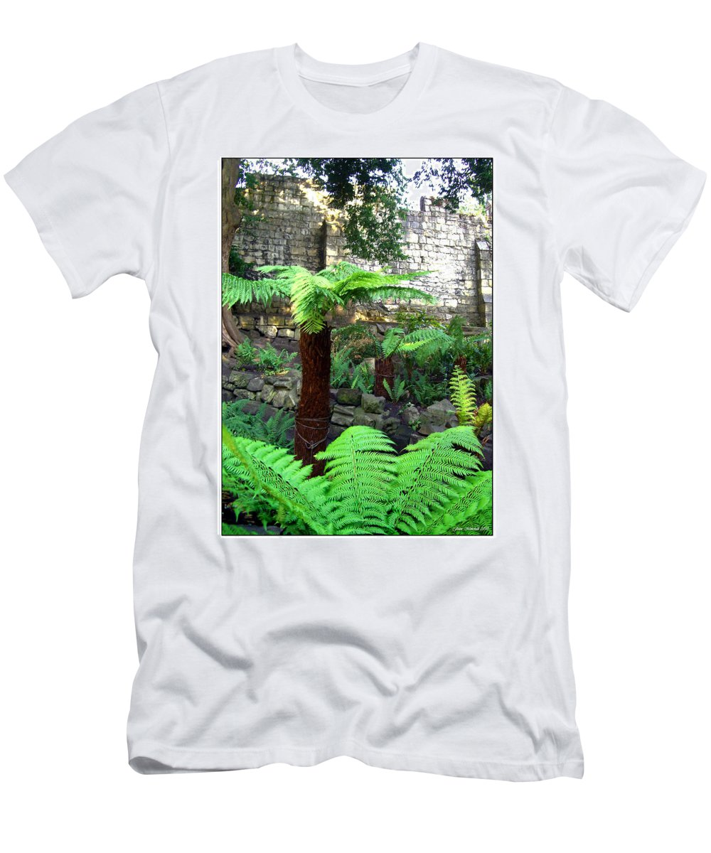 Botanical Men's T-Shirt (Athletic Fit) featuring the photograph Walled Garden by Joan Minchak